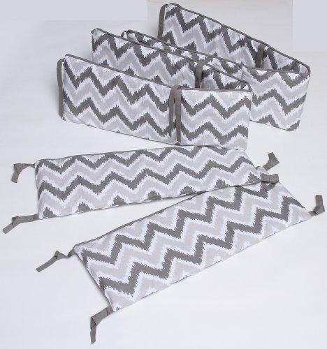 Ikat Zigzag Grey Bumper Pad