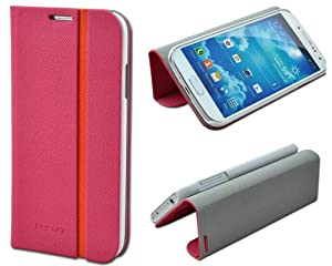 Shenit Samsung Galaxy S4 i9500 Slim Smart Leather Case Flip Cover Folio with Stand – Rose Hot Pink
