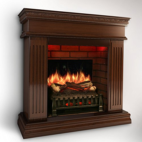 MagikFlame Electric Fireplace w/ Realistic Flame Effects + Crackling Logs Sound + Fresh Cut Pine Scent + Built in Heater [CHERRY WOOD] (Cherry Wood Electric Fireplace compare prices)