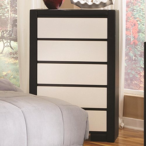 Coaster Home Furnishings Contemporary Chest, White/Black front-884182