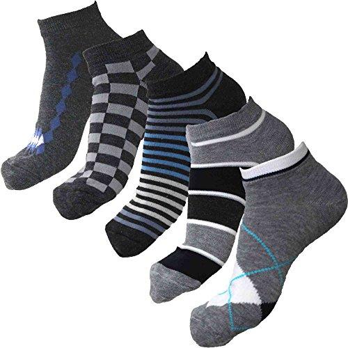 メンズ スニーカー ソックス 靴下 カジュアル 25cm ~ 27cm 5足組 セット シンプル カラー 15色 速乾 スポーツソックス 大きいサイズ にも 対応