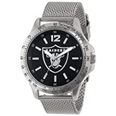 Game Time Mens NFL-CAG-OAK Cage NFL Series Oakland Raiders 3-Hand Analog Watch by Game Time