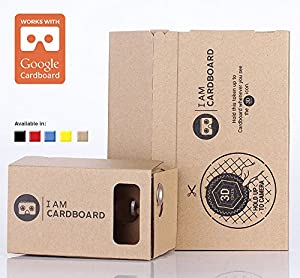I AM CARDBOARD 45mm Focal Length Virtual Reality Google Cardboard with Printed Instructions and Easy to Follow Numbered Tabs (WITHOUT NFC) (Box Color)