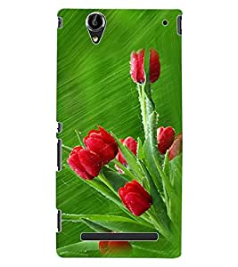 ColourCraft Love Roses Design Back Case Cover for SONY XPERIA T2 ULTRA DUAL D5322