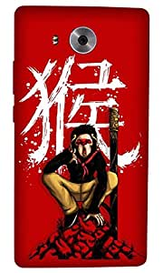 Timpax Protective Armour Case Cover. Multicolour Printed Design : A Japanese samurai.Exactly Design For : Huawei Ascend Mate-8
