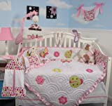 Boutique Little Lady Crib Nursery Bedding Set 10 pcs