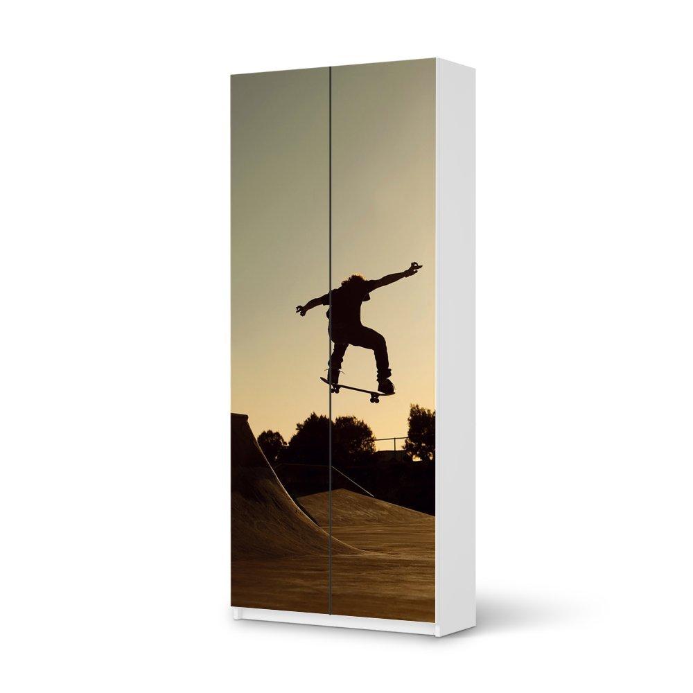 Folie IKEA Pax Schrank 236 cm Höhe – 2 Türen / Design Aufkleber Skater / Dekorationselement günstig kaufen
