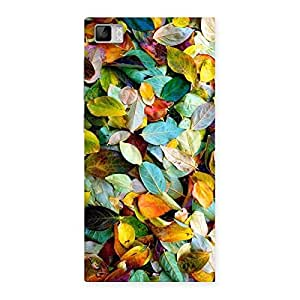 Stylish Colorfull Leafs Back Case Cover for Xiaomi Mi3