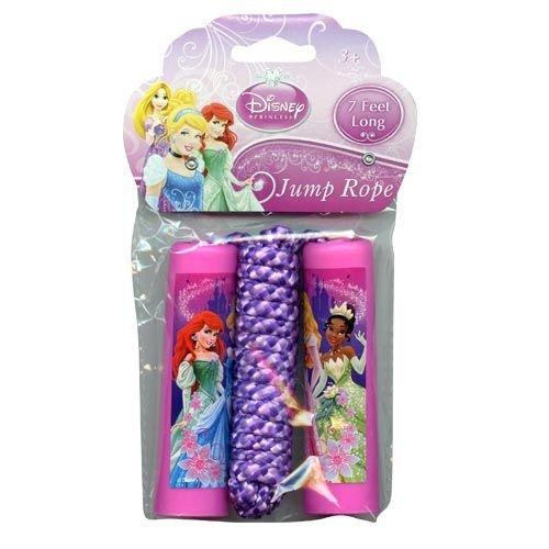 Disney Princess Belle, Aurora, Rapunzel, Ariel Pink Jump Rope - 1