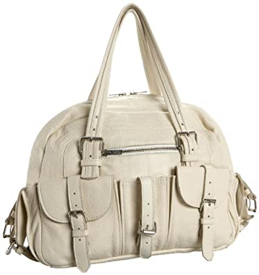 Zara Terez Sunset Park Satchel With Buckles,Cream,one size