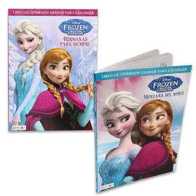 2 Pk, Disney Frozen Spanish Coloring & Activity Book, 96 Pages Per Book - 1