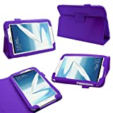 Samrick Executive Specially Designed Leather Book Folio Wallet Case with Exclusive Viewing Stand for 8.0 inch Samsung N5100/N5110 Galaxy Note - Purple