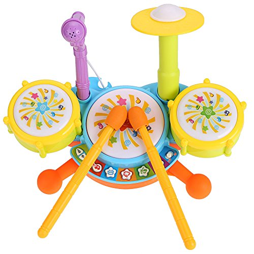 cravog-baby-boy-girl-multicolor-plastic-educational-music-toy-electric-beats-jazz-drum-set