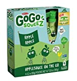 GoGo Squeez appleapple, Applesauce on the Go, 3.2-Ounce Pouches, 12 Count,  (Pack of 4)