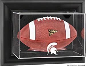 Michigan State Spartans Black Framed Wall Mountable Football Display Case by Mounted Memories