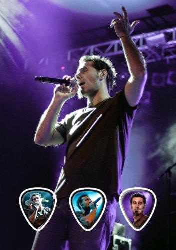 Serj Tankian (JC) Live Performance Unframed Chitarra Plettro Display
