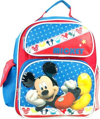 """Disney Mickey Mouse Toddler 12"""" Backpack. front-867517"""
