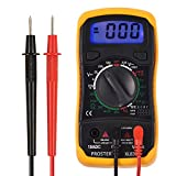 Digital Multimeters, Proster Mini Digital Auto Range Multimeter Tester Meter DMM DC AC Current Voltmeter Ohm with Backlight LCD