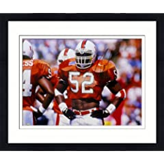 Framed Ray Lewis Autographed Miami Hurricanes Photo - 16x20 - JSA Certified -...