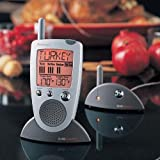 Brookstone Grill Alert Talking Remote Meat Thermometer