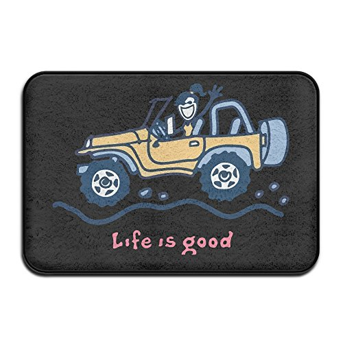Non-Slip Jeep Life Is Good Doormat And Dog Mat