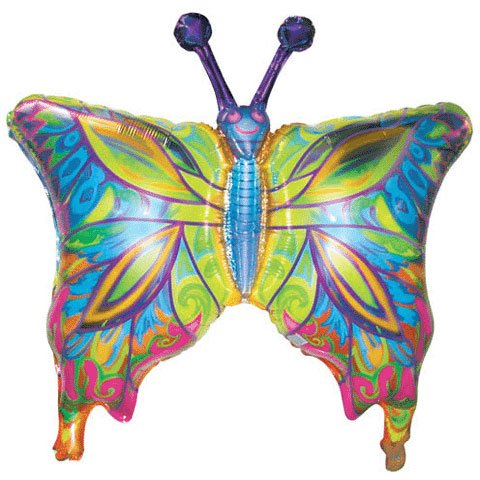 Fantasy Butterfly Shape Balloon (38 Inch Mylar) Pkg/1 - 1