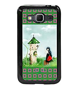 Printvisa 2D Printed Girly Designer back case cover for Samsung Galaxy Core Prime G360H- D4151