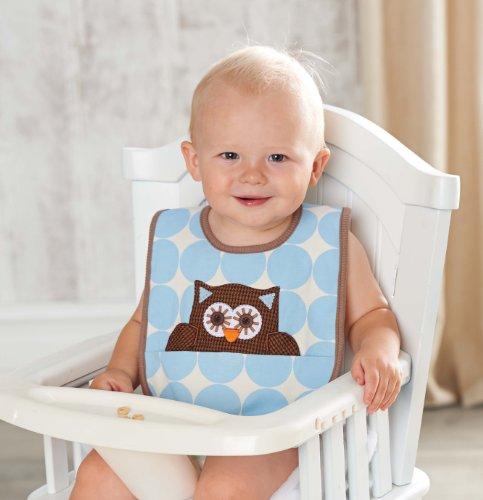 Mud Pie Baby-Boys Newborn Owl Bib, Multi, 0-12 Months