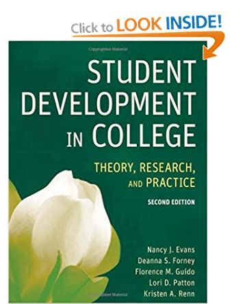 Image: Cover of Student Development in College: Theory, Research, and Practice by Nancy Evans