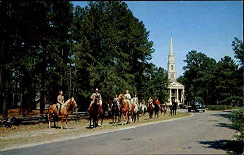 Riding party near The Village Chapel in Pinehurst, North Carolina