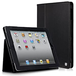 Casecrown Bold Standby Case Black For Ipad 4th Generation With Retina Display Ipad 3 & Ipad 2 Built-in Magnet For Sleep / Wake Feature
