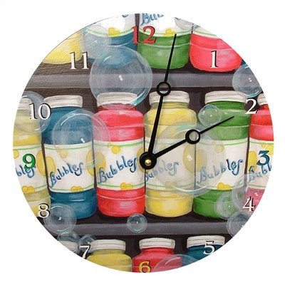 Bubbles Decorative Wall Clock Size: 18
