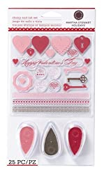 Martha Stewart Crafts Stamp And Ink Set, Valentine's Day Heart & Key