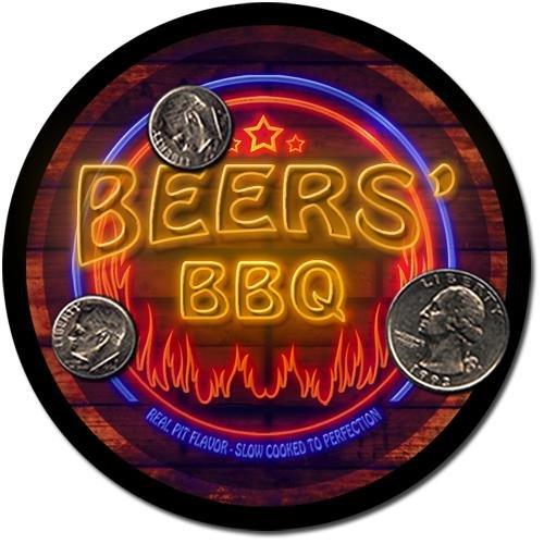 Beers' Barbeque Drink Coasters - 4 Pack