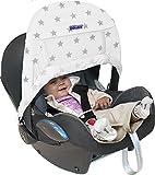 Dooky X126317 accesorio para silla de coche para bebes - accesorios para sillas de coche para bebes (Sun canopy, Plata, Color blanco, Velcro, 40+, Lavado de manos)