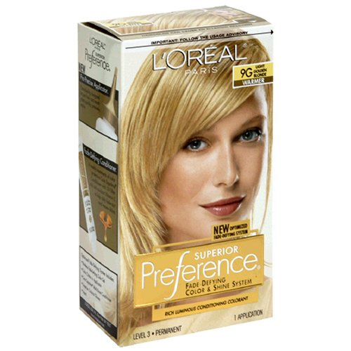LOreal Preference Hair Color Light Golden Blonde 9G