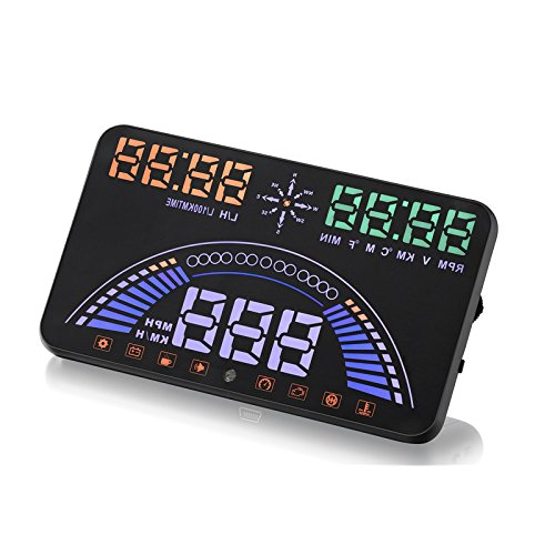 5.8 Zoll HD Gps Hud Auto Head Up Display OBDI Obdii