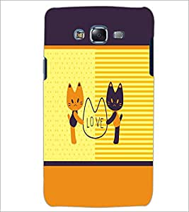 PrintDhaba Love D-1373 Back Case Cover for SAMSUNG GALAXY J7 (Multi-Coloured)
