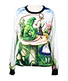 RedExtend Movie Theme Character Long Sleeve Print Sweatshirt Blouse Tops