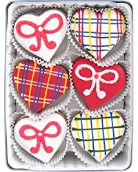 Beautiful Sweets Plaid Hearts Organic Cookies, 24 Cookies