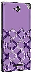 GsmKart SXC Mobile Skin for Sony Xperia C (Purple, Xperia C-561)