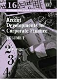 img - for Recent Developments In Corporate Finance (International Library of Critical Writings in Financial Economics) book / textbook / text book