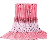 Euphoria Super Soft Fleece Prints Throw Blanket for Sofa Couch Lounge Bed Bedding Cute Ombre Pink Dots Design King Size 230 x 200cm