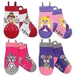 Ez Sox Kids Animal Socks (small, Princess Fairy-Kitty-Mouse)