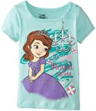Disney Little Girls' Sofia Royal Short Sleeve Tee, Green, 2T