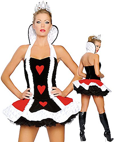 GALHAM - DHL Enchanting Queen Of Hearts Costume Hot Halloween Dress Costume