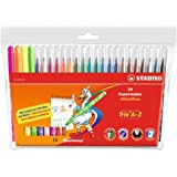 Stabilo Trio A-Z Wallet of 20 Assorted Colours + 4 FREE Neon Colours
