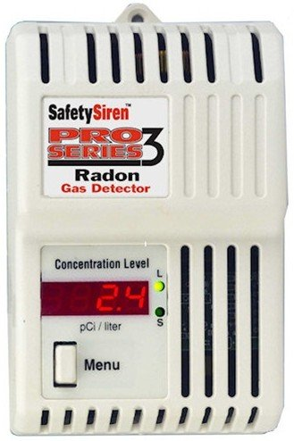 Safety Siren Pro Series HS71512 3 Radon Gas Detector