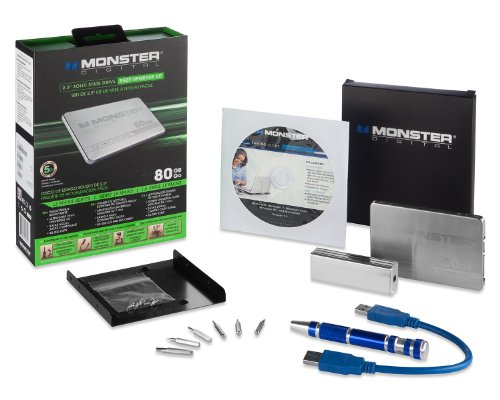 Monster Digital 80 GB Le Mans Series 2.5-Inch SATA 6 GB/s Solid State Drive with Easy Upgrade Kit S37-0080-30C