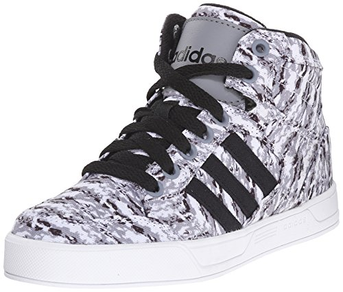 adidas NEO Raleigh Mid K Kids' Basketball-Inspired Sneaker (Little Kid/Big Kid),Grey/Black/White,10.5 M US Little Kid (High Top Adidas For Boys compare prices)